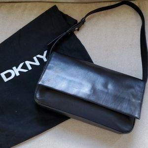 DKNY Black Leather Shoulder Bag